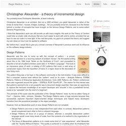 Christopher Alexander - a theory of incremental design