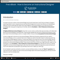 Christopher Pappas on how to become an Instructional Designer