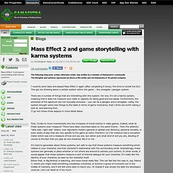 Christopher Aaby's Blog - Mass Effect 2 and game storytelling with karma systems