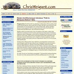 "ChrisWeigant.com » Wyden And Blumenauer Introduce ""Path to Marijuana Reform"" Bills"
