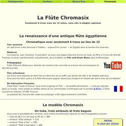 Flûte Chromasix: chromatique à 6 trous sans clé ni doigté fourchu