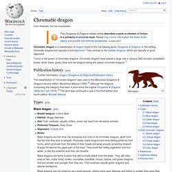 Chromatic dragon (Dungeons & Dragons) - Wikipedia, the free encyclopedia