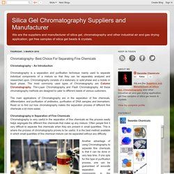 Chromatography- Best Choice For Separating Fine Chemicals