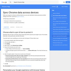 Sync Chrome data across devices - Computer - Chrome Help