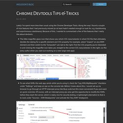 Chrome Devtools Tips & Tricks
