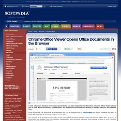Chrome Office Viewer Opens Office Documents in the Browser