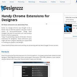 Handy Chrome Extensions for Designers