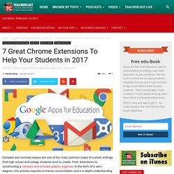 7 Great Chrome Extensions To Help Your Students in 2017