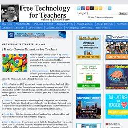 5 Handy Chrome Extensions for Teachers