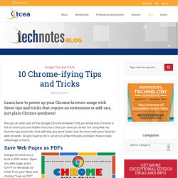 10 Chrome-ifying Tips and Tricks - TechNotes Blog - TCEA