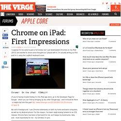 Chrome on iPad: First Impressions