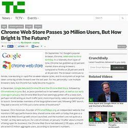 Chrome Web Store Passes 30 Million Users, But How Bright Is The Future?