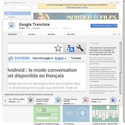 Google Translate :: Chrome