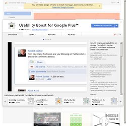 Usability Boost for Google Plus™