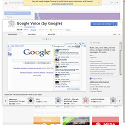 Voice (by Google) - Google Chrome extension gallery