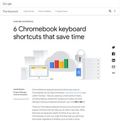 6 Chromebook keyboard shortcuts that save time