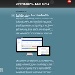 Chromebook You-Tube Filtering