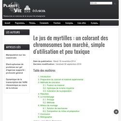 Le jus de myrtilles : un colorant des chromosomes bon marché, simple d'utilisation et peu toxique