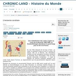 Chronic-land - Histoire du Monde - L'entente cordiale