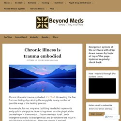 Chronic illness is trauma embodied – Beyond Meds