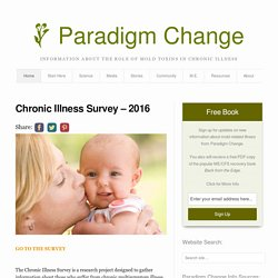 Chronic Illness Survey - 2016 - Paradigm Change