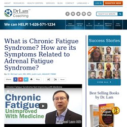 What is Chronic Fatigue Syndrome? Revealing links with Adrenal Fatigue