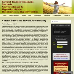 Chronic Stress and Thyroid Autoimmunity
