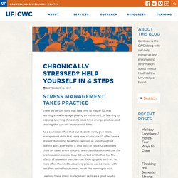 Chronically Stressed? Help Yourself in 4 Steps - UF Counseling and Wellness Center (CWC)