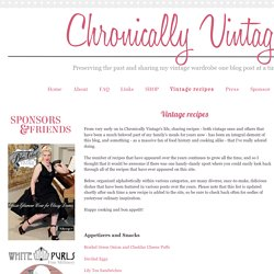 Chronically Vintage: Vintage recipes