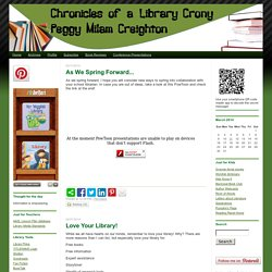 Chronicles of a Library Crony