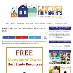 Free Chronicles of Narnia Resource Unit
