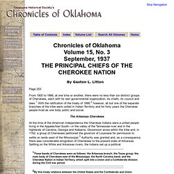 Chronicles of Oklahoma