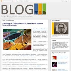 Blog de t@d: Chronique de Philippe Inowlocki : Les rôles du tuteur en ligne, méta-analyse.