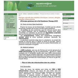 Thérapie naturelle des maladies chroniques: cancers, allergies, maladies inflammatoires - aquabiovet@net