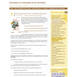 Chroniques en innovation et en formation » Blog Archive » Réussir ses premiers cours ? Conseils et ressources