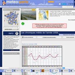 Les chroniques météo de l'année 1958 - Meteo Paris