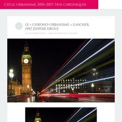Réflexion sur le chrono-urbanisme