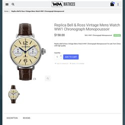 Cheap Replica Bell & Ross Vintage Mens Watch WW1 Chronograph Monopoussoir For Sale