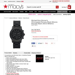Michael Kors Watch, Women's Chronograph Black Silicone Bracelet MK5512 - Women's Watches - All Watches - Jewelry & Watches