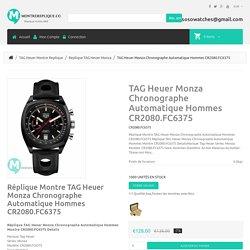 Réplique Montre TAG Heuer Monza Chronographe Automatique Hommes CR2080.FC6375 - €128.00