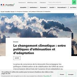 Chronologie - Le changement climatique