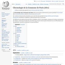 Chronologie de la Commune de Paris (1871)