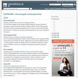 ESPAGNE, chronologie contemporaine