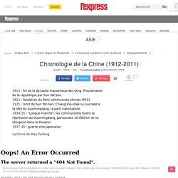 Chronologie de la Chine (1912-2011)