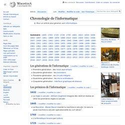Chronologie de l'informatique
