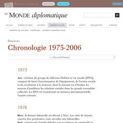 Chronologie 1973-2006, par Olivier Pironet (Le Monde diplomatique, octobre 2006)
