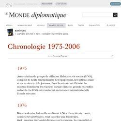 Banlieues : chronologie 1973-2006, par Olivier Pironet (Le Monde diplomatique, octobre 2006)