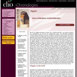 clio - Chronologie Egypte
