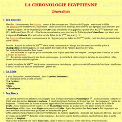 Chronologie égyptienne
