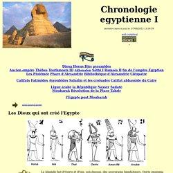 chronologie égyptienne jusqu'en 2012